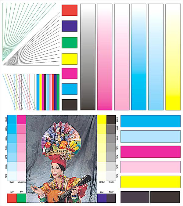 fora print ru Лабораторный тест чернил fora Приложение Оригинал тестового изображения контрольный образец
